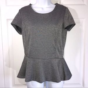 NY & Co Sparkly Gray/Silver Top Size 10